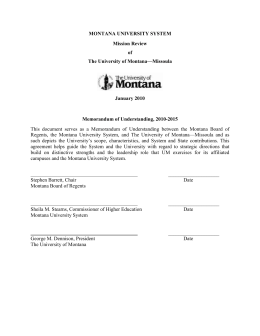 Draft - University of Montana