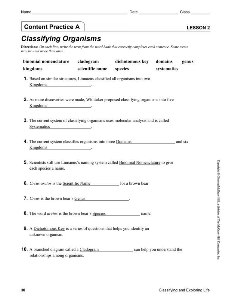 Ch 1 Lesson 2 Content Practice With Answers