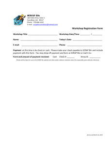 FORM Workshop Registration - Half Sheet