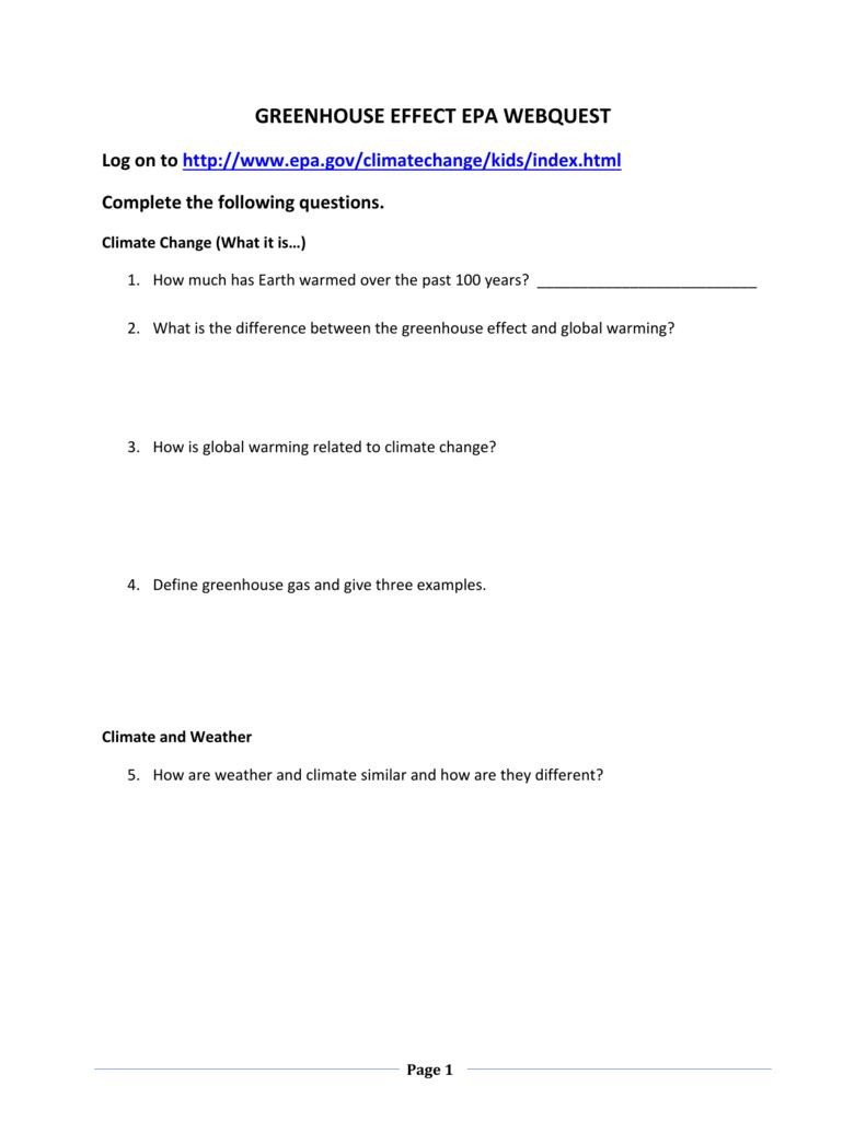 worksheet Greenhouse Effect Worksheet 006684163 1 c0043dfa35171fb14c10d7e1aafd608a png