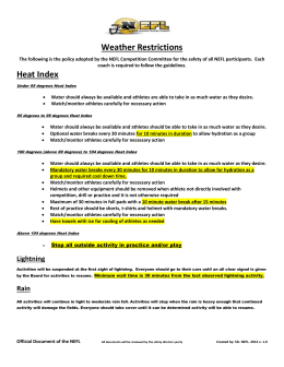 Weather Restriction Guidelines
