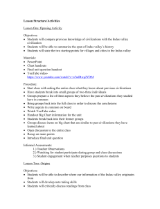 Lesson Structure/Activities Lesson One: Opening Activity Objectives