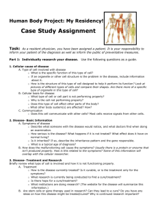 My Residency Case Study Assignment
