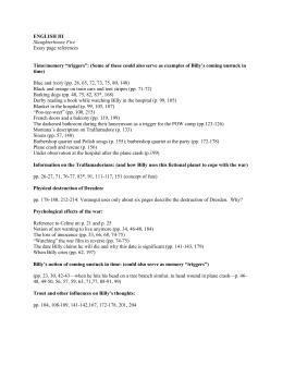 Data Sheet  Slaughterhouse Five English Iiislaughterhouse Five Essay Page References