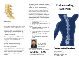 Understanding Back Pain Brochure