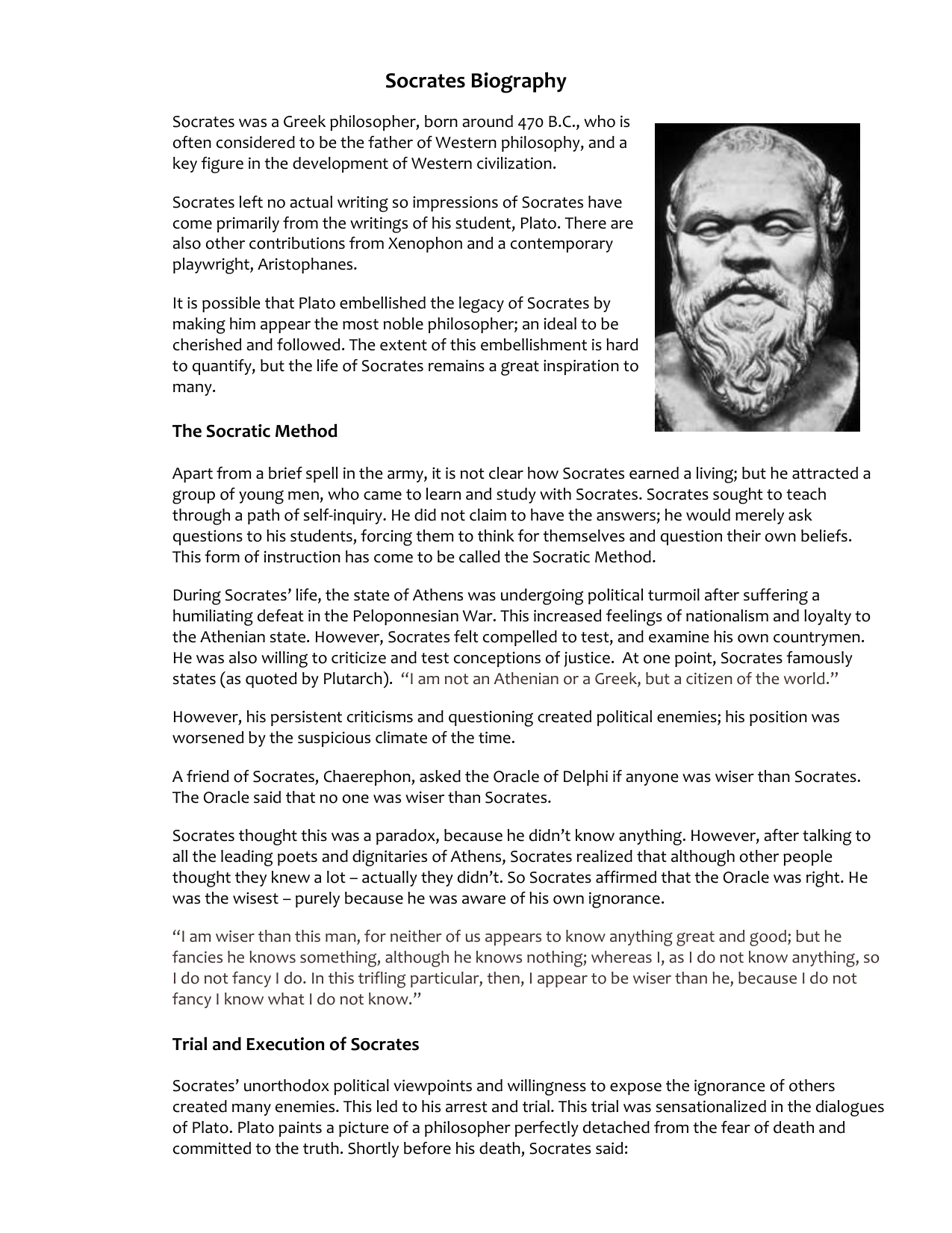 socrates and knowledge essay