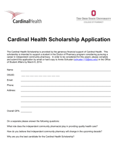 Cardinal Health Scholarship Application