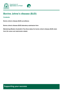Bovine Johne`s disease (BJD) - Department of Agriculture and Food