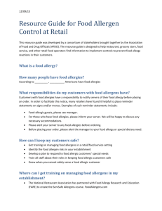 NEW: Resource Guide for Food Allergen Control at Retail