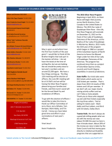 Knights of columbus john f kennedy council 1257 newsletter