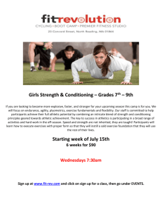 Girls Strength & Conditioning – Grades 7 th – 9th - FIT-REV