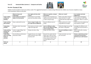 Year 1/2 Homework Menu Summer 1: Conquests and Castles Due
