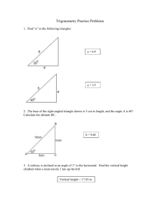 Trigonometry Practice Problems