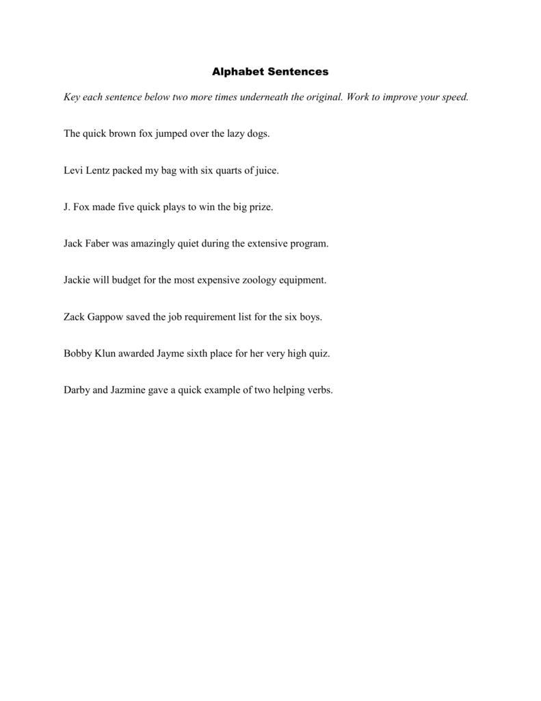 Alphabet Sentences - CHSInfoProcessing2014-15