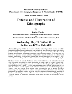 Defense and Illustration of Ethnography