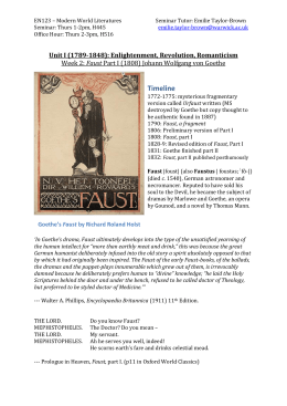 Week 2: Faust - University of Warwick