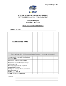 Peer Assessment Form-Integrated Project