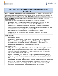 Educator Evaluation Technology Innovation Grant Overview