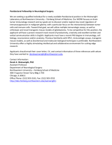 Postdoctoral Fellowship in Neurological Surgery, Wainwright