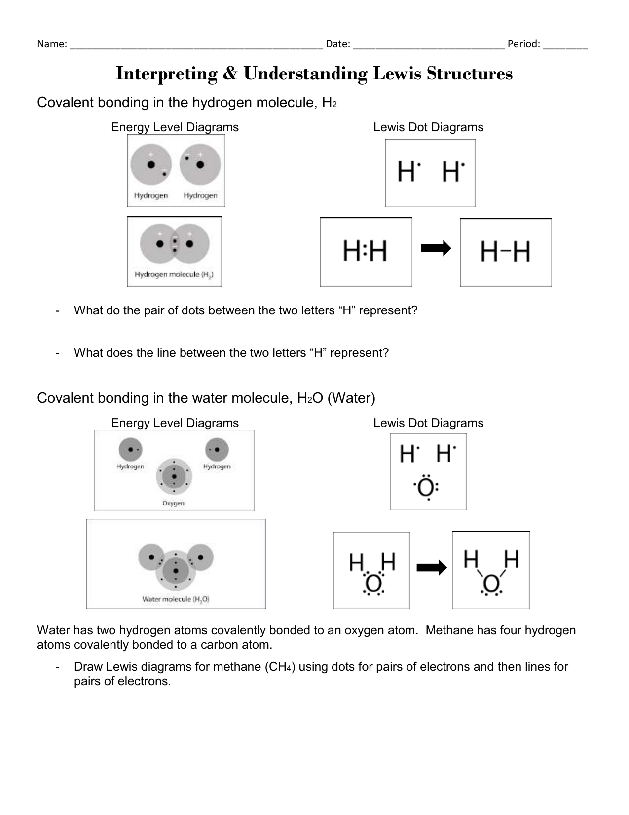 Hw Lewis Structures Worksheet Liberty Union High School District
