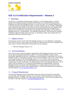 S2S v1.6 Certification Requirements – Release 2