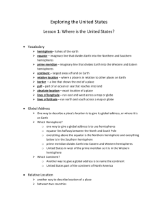 Lesson 1: Where is the United States?