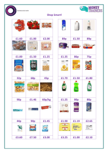 Shop Smart Activity Sheet