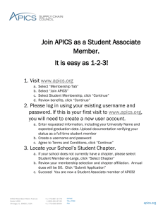 Easy Steps to Join APICS as a Student Member