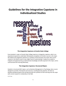 Guidelines for the Integrative Capstone in Individualized Studies