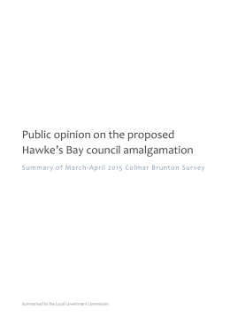 Public opinion on the proposed Hawke`s Bay council amalgamation