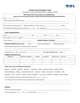 Adult Residential Referral Form
