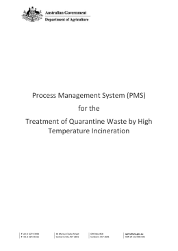 Treatment of Quarantine Waste by High Temperature Incineration