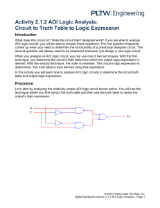 Activity 2.1.2 AOI Logic Analysis: Circuit to Truth Table to Logic