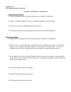 Streetcar Scene 11 Comprehension questions