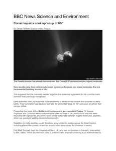 Comet impacts cook up soup of life