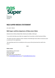 NGS Super confirms departure of Mary