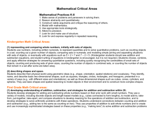 Math Critical Areas K
