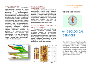 geological services - Gas Oil Technology