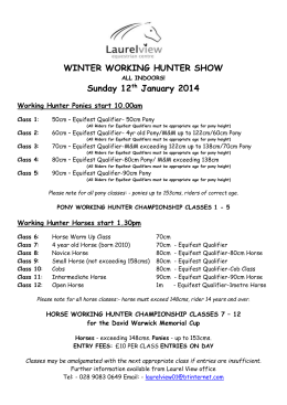 Show Schedule with Equifest Qualifiers