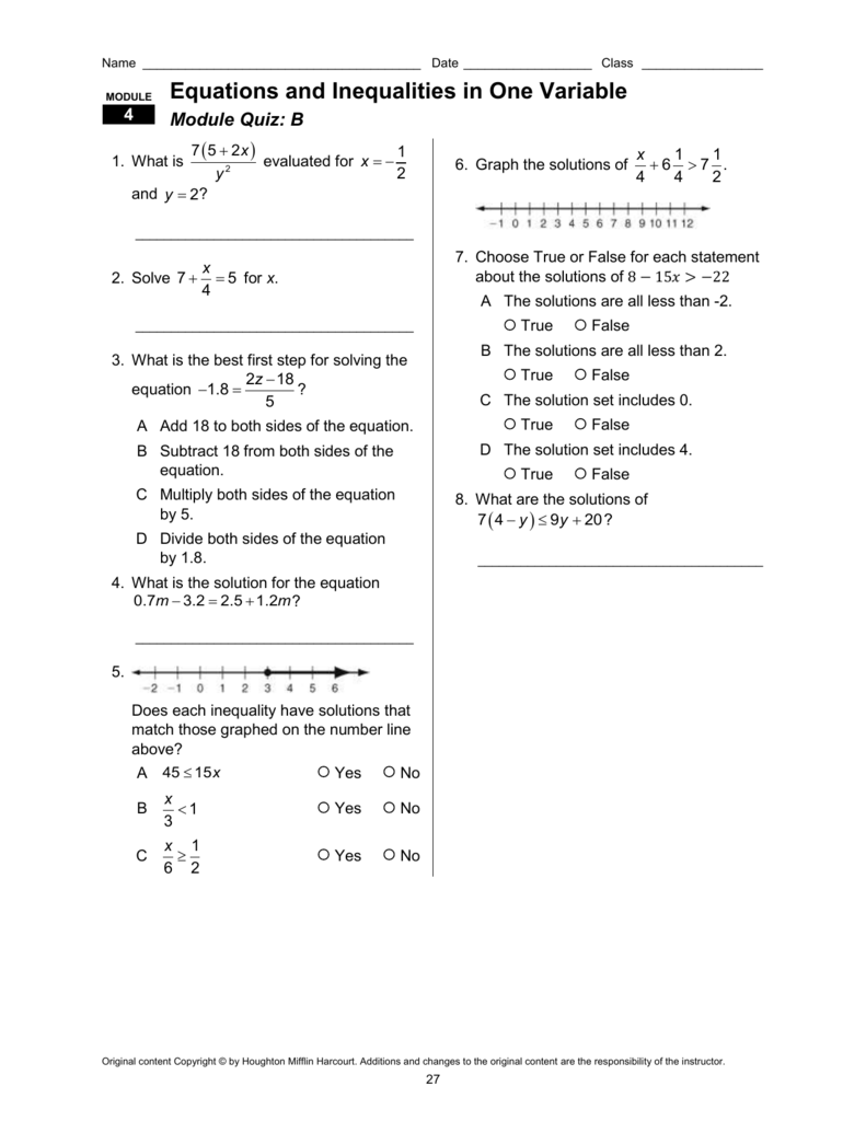 Module 11 Solving Systems Of Linear Equations Quiz B Answer