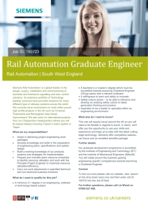 Rail Automation Graduate Engineer