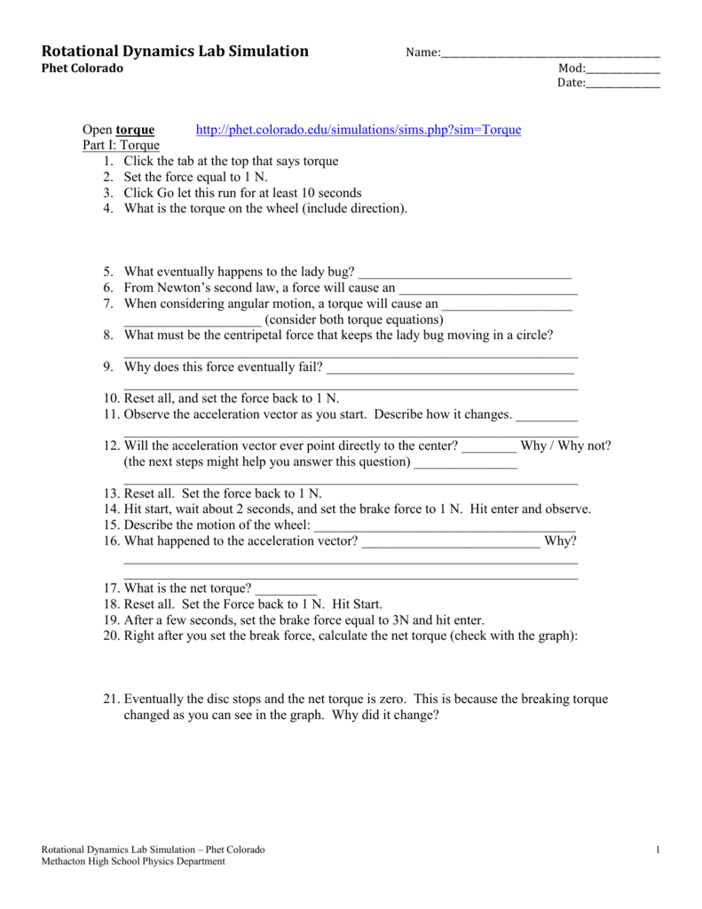 worksheet Physics Torque Worksheet physics web search torque methacton school district