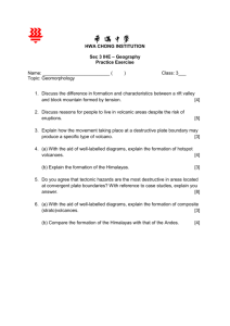 Worksheet for all volcano questions - 3O23A2GEOG