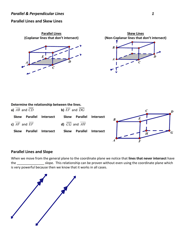 Parallel Perpendicular Lines