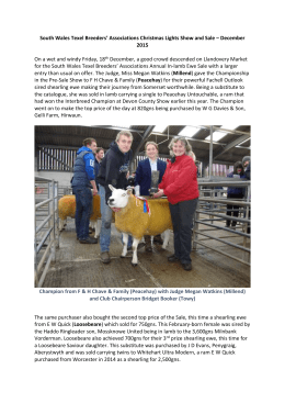 South Wales Texel Breeders` Associations Christmas Lights Show
