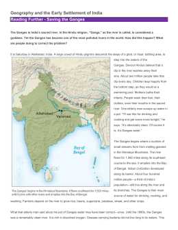 Reading Further - Saving the Ganges