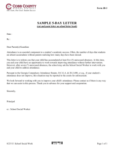 Sample 5-Day Letter - Cobb County School District