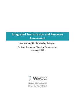 2015 Integrated Transmission and Reliability Assessment