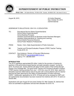 B038-15 Addendum - Office of Superintendent of Public Instruction