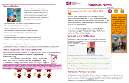 Fall 2014 Newsletter - Nucleus Independent Living